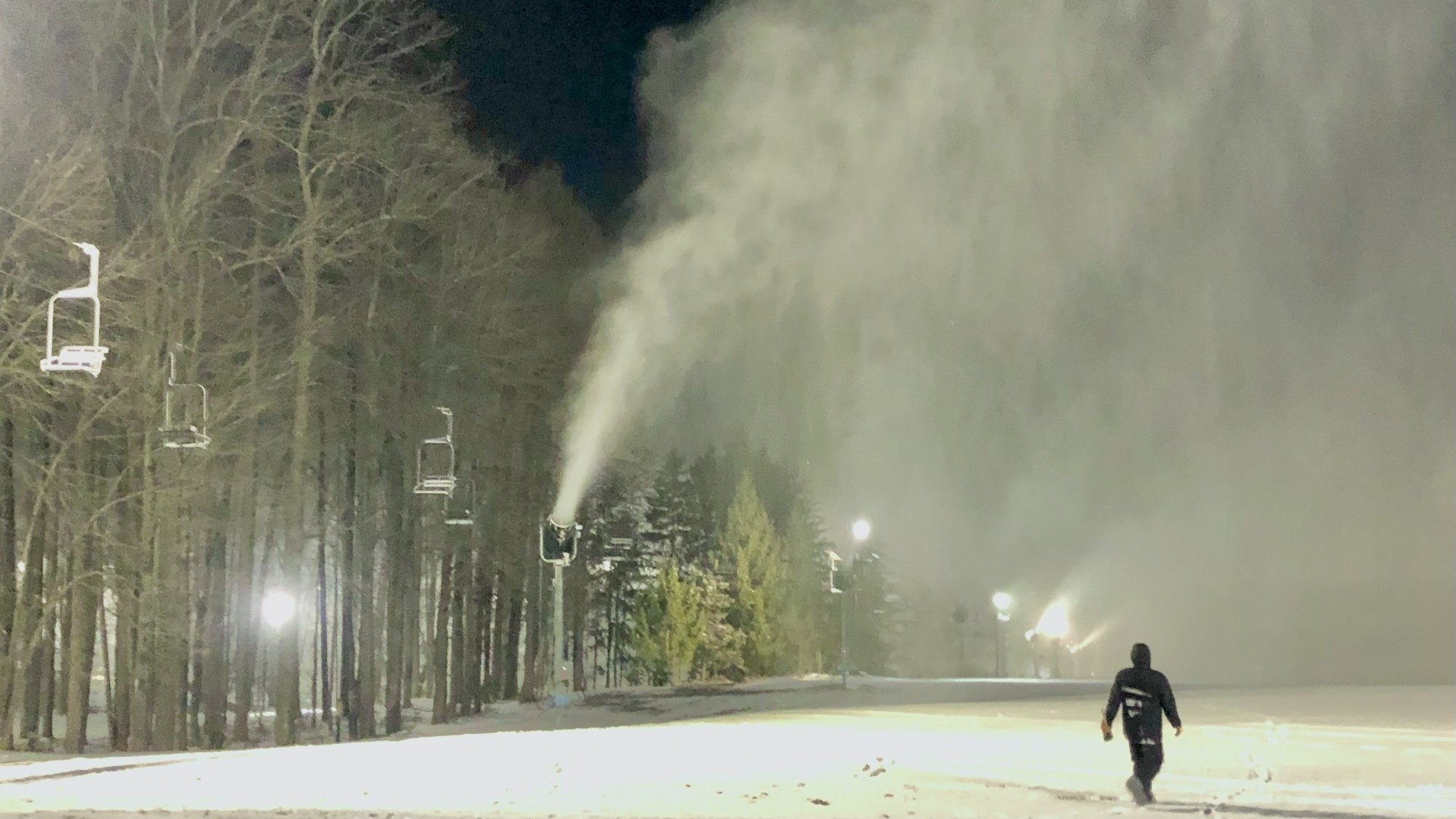 Snowmaking Continues December 22nd 2020