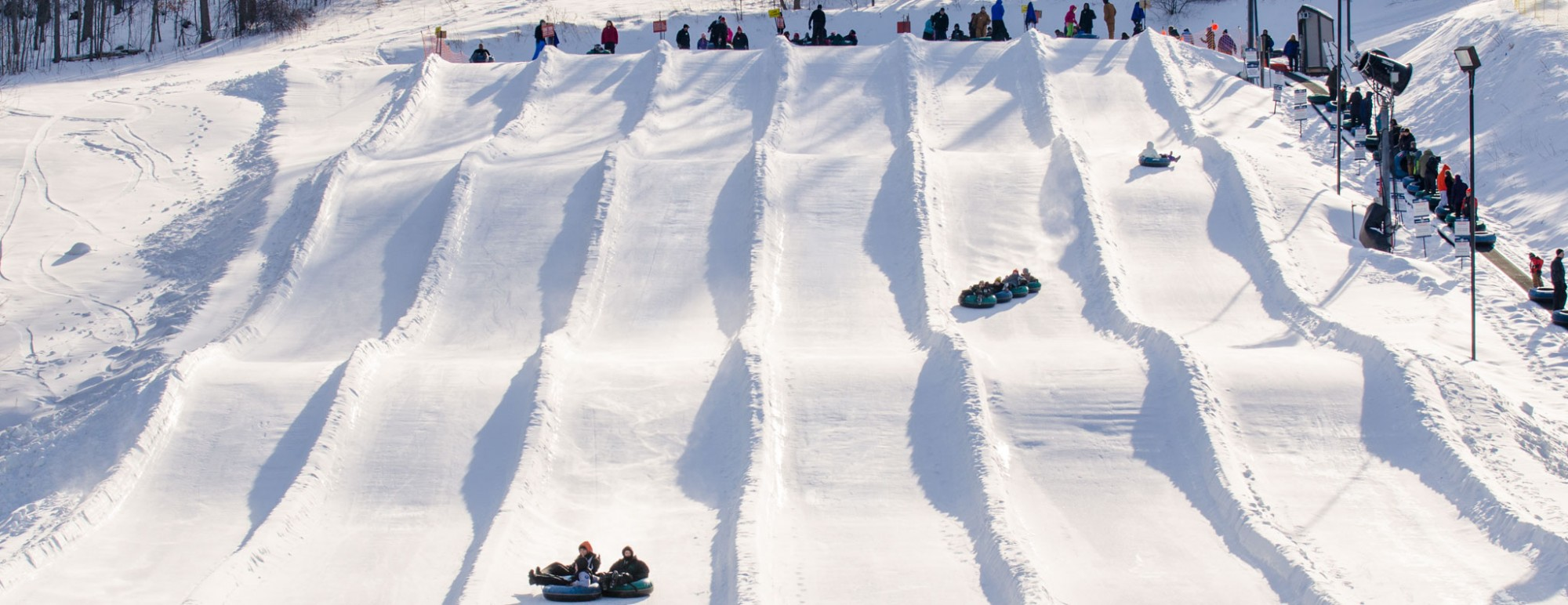 Snow Tubing at Snow Trails Vertical Descent Tubing Park