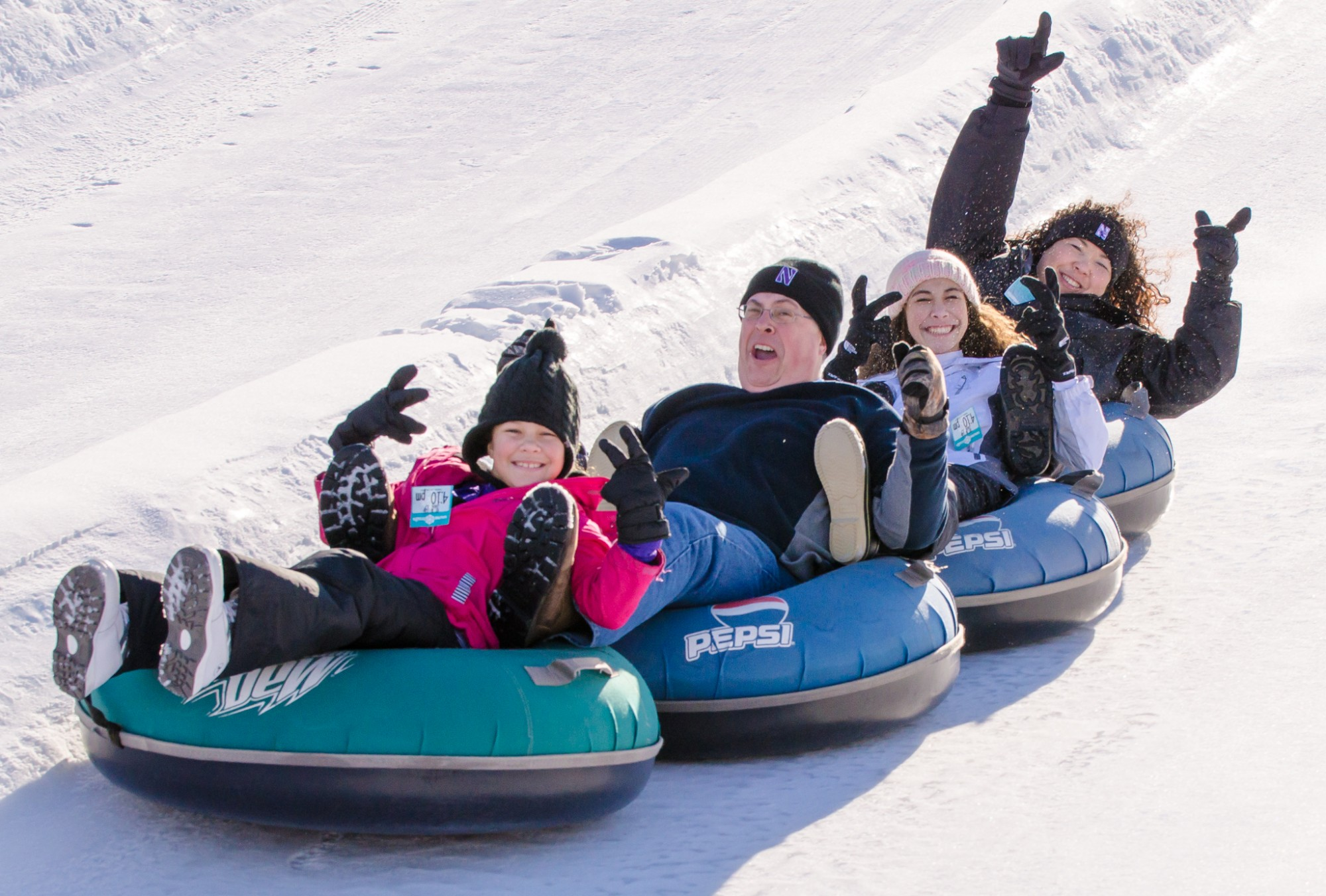 Family Day at Snow Trails Vertical Descent Tubing Park